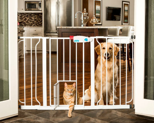 The Perfect Baby Gate With Pet Door For Your Home Baby Gate Guru