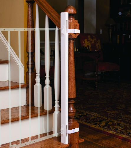 EZ-Fit Safety Gate Adapter Kit For Protecting Stair Banisters