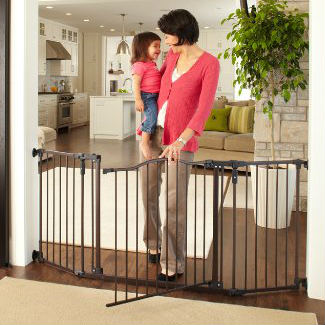 North States Supergate Deluxe Decor Metal Baby Gate