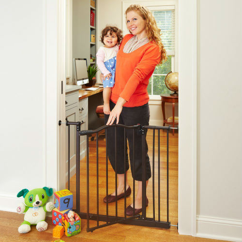 North States Supergate Portico Arch Baby Gate With Door