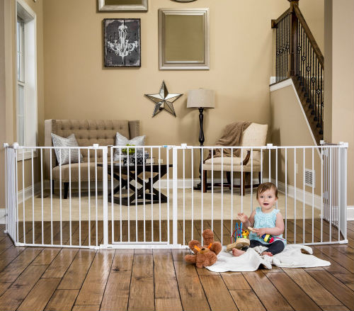 Regalo Super Wide Gate and Play Yard, 192-Inch