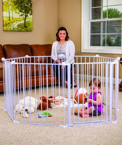 Regalo Extra Wide Baby Gate Playpen, 192-Inch