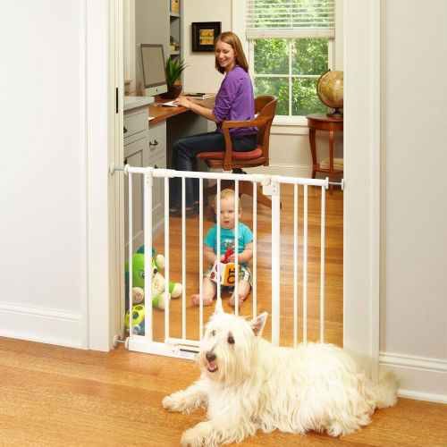 North States Supergate Easy Close Pressure Mounted Metal Gate
