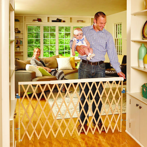 North States Supergate Expandable Accordion Swing Gate