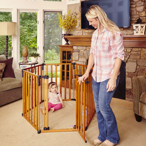 North States Superyard Wooden Baby Gate