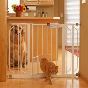 Carlson Extra Wide Walk Through Baby Gate with Pet Door